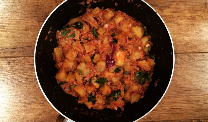 My potato, cumin and curry leaf curry
